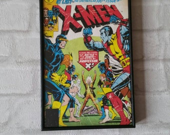 Super Hero Wall Art with Vintage Style Comic Print of X-Men