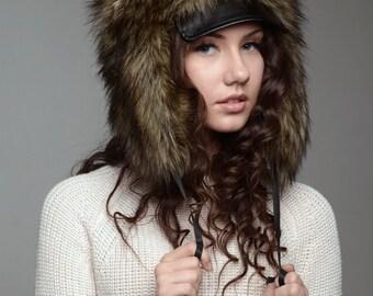 Winter hat Hunter, made of fake fur
