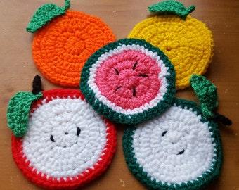 Crochet Fruit Coasters