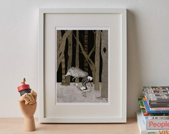 Folk Tale Print A3 - Hans-My-Hedgehog