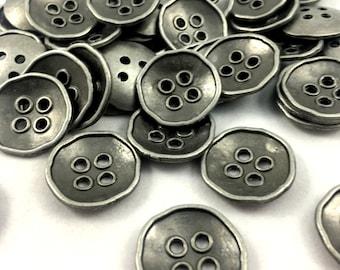 30 Pcs Antique Look Metal Buttons - Jacket Buttons -Vintage look Buttons- DIY Buttons- Metal Buttons - Sewing Supplies Buttons - Big Buttons