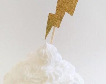 Harry Potter Lightening Bolt Cupcake Toppers