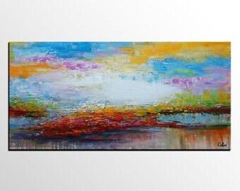 Abstract Art, Canvas Art, Canvas Painting, Large Art, Abstract Painting, Landscape Painting, Canvas Wall Art, Oil Painting, Original Art