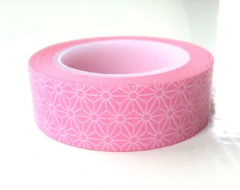 Washi tape, floral pink