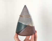 Ceramic Jewelry Holder. Bracelet Cone. Funsize Ceramics Bangle Cone. Jewelry Cone. Turquoise, Light Purple and Matte White.