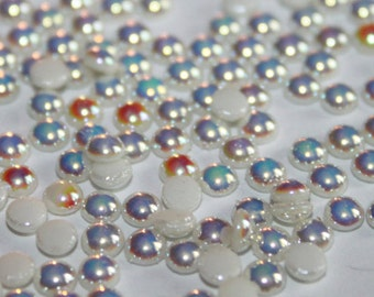 Milk AB Hotfix Pearl SS10-wholesale pricing-ceramic hotfix pearls