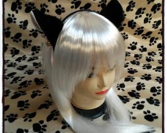 Black cat ear hairband - Neko cosplay circlet