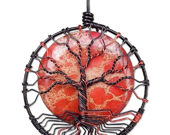 Mars Tree of Life Pendant Wire Wrapped Jewelry