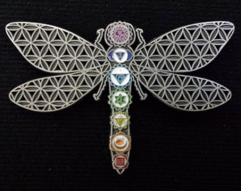 Chakra Dragonfly - Antique Silver