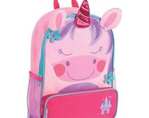 Stephen Joseph Sidekick Backpack Unicorn Monogrammed School Backpack