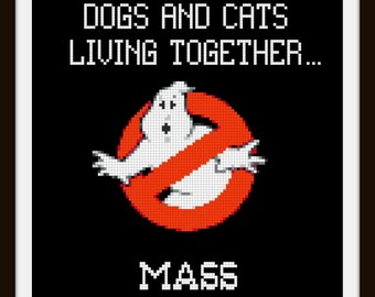 Ghostbusters Quote Cross Stitch Pattern