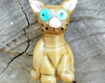 Handmade Focal Cat Pendant Bead