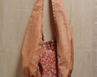 Handmade Silk Boho Bag Recycled Sari - Floral