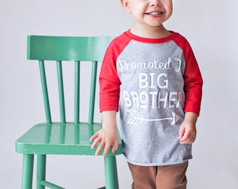 promoted to big brother shirt, pregnancy announcement shirt, soon to be big brother shirt, new baby announcement, big brother shirt