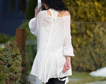 See Through Top, Boho Top, Black Tunic, White Top, Boho Tunic, Romantic Top, Tunic Dress, Sheer Top, Loose Shirt, Plus Size Tunic