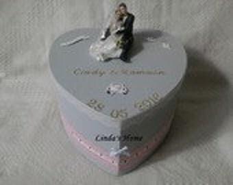 Wedding souvenirs box grey