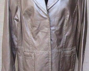 Vintage  Long Leather Jacket  (Never Worn)  Medium