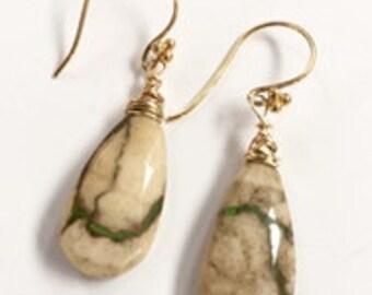 Jasper Gold Earrings!