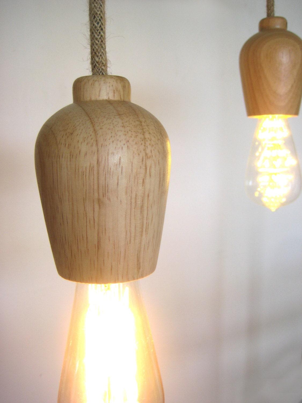 scandi wood turned plug in pendant light make to order with. Black Bedroom Furniture Sets. Home Design Ideas