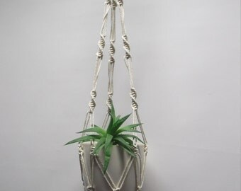 Cotton plant hanger. 20in-48in+DOUBLE, Hanging planter. Flowerpot hanger,