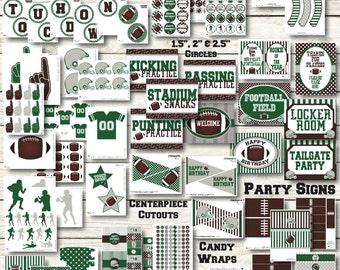 Football Birthday Decorations- Football Party Decorations - Football Printable- Sports Birthday - Sports Party - Football Banner - Sports Ba