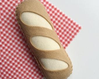 Felt Food Baguette, Pretend Food Bread, Play Food, Play Shop