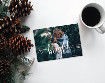 Photo Christmas Card - may your days be merry and bright - Holiday card - photo card - christmas photo card - holiday photo card