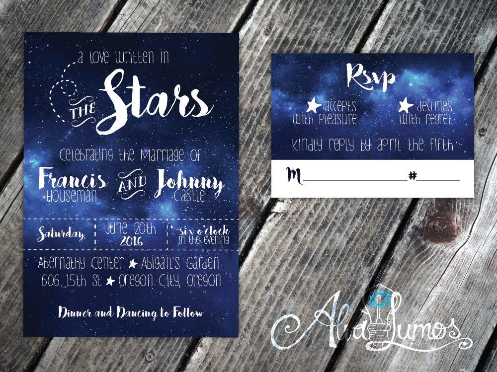 Star Wedding Invitations: Starry Night Wedding Invitation Under The Stars Wedding
