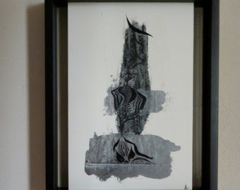 Original painting - Drawing on  paper Indian Ink