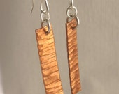 Hammered Copper Earrings ...