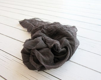 Newborn Cheesecloth Wrap, Black Baby Wrap, Maternity Cheesecloth Wrap