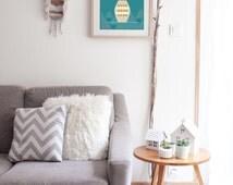 "Graphic poster ""VASE"" - graphic design poster - scandinavian inspiration - triangle - scandinavian plant - vase - plant"
