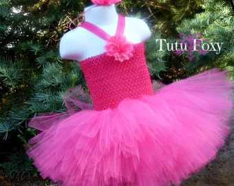 Hot Pink Tutu Dress, Hot Pink Tutu, Pink Birthday Tutu, Birthday Tutu, 1st Birthday Tutu, Pink Tutu Dress, Pink Tutu