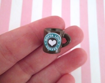 Miniature Brown Coffee Cup Cabochons Dollhouse Coffee Cups #198