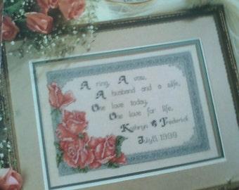 Cross Stitcth Rose Wedding Sampler Pattern