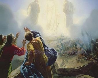 "Carl Bloch ""Transfiguration of Jesus"" 1870 Reproduction Digital Print Transition Christianity Religion"