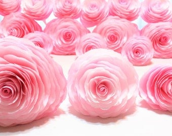 Paper flowers, Paper Peonies, 3 sizes available, Peonies in your choice of colors, Home decor flowers, Baby shower decor, Faux flowers