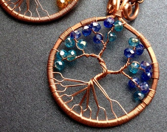 Frozen Tree of Life on copper chain