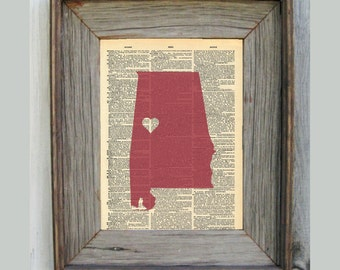 Alabama Print. Dictionary Art Print