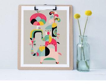 abstract elephant, modern elephant art, elephant decor,nursery art, modern nursery decor,home decor,cat wall art, print wall decor printable