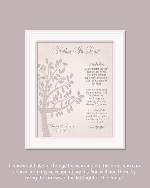 Mother in law gift wedding thank you gift for grooms mom for Mother s day gift for mother in law