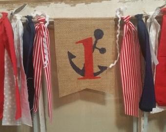 Nautical Birthday Banner, Anchor Party Decor, Anchor Decorations, Anchor Birthday Decor, Anchor Garland, Sailor Birthday Decor, Anchors Sign