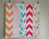 Arrow Quilt,Modern baby quilt,crib quilt pattern, PDF Pattern,easy quilt pattern,boy quilt pattern,Girl quilt pattern, baby blanket