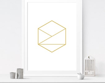 Gold geometric, Geometric print, Gold print, Geometric wall art, Geometric printable, Geometric minimalist, Top selling items
