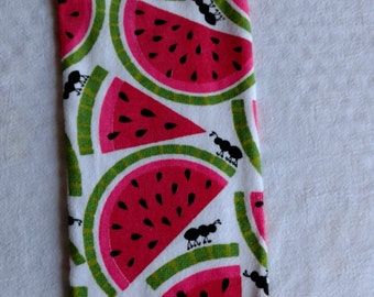 Watermelon and Ants Hanging Kitchen Towel