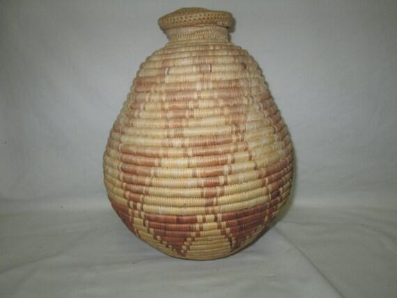 Handmade Baskets From Africa : Vintage african handmade basket large estate sale find