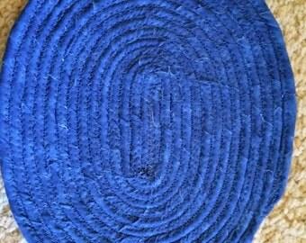 Beautiful Blue Coiled Trivet