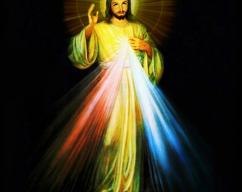 Jesus Divine Mercy English 3 Digital DIY Images  16x20, 8x10, & 5x7 Digital Printable Pictures