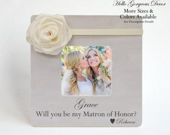 Matron of Honor Proposal Sister Ask Will you be my Matron of Honor? Frame Gift Ideas Personalized Proposal Maid of Honor Ask Bridesmaid Idea