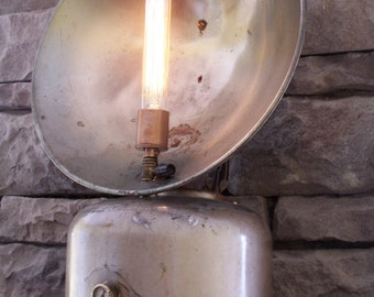Tilley - Repurposed lamp from Antique heater